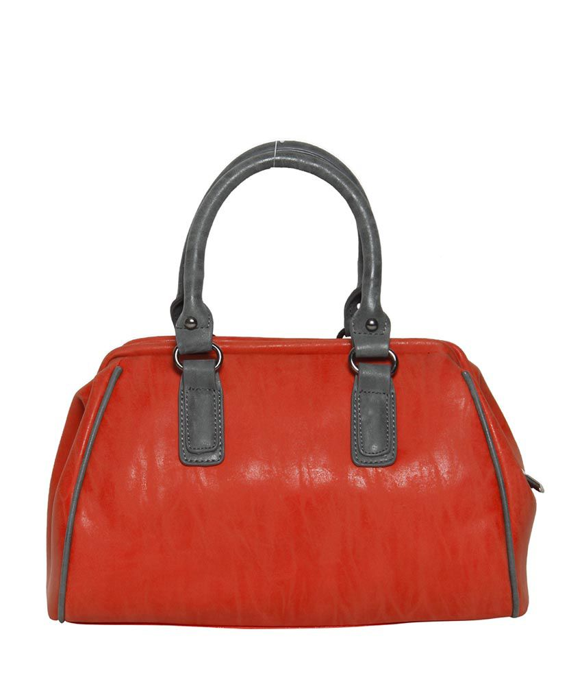 Bagkok Red Faux Leather Shoulder Bag