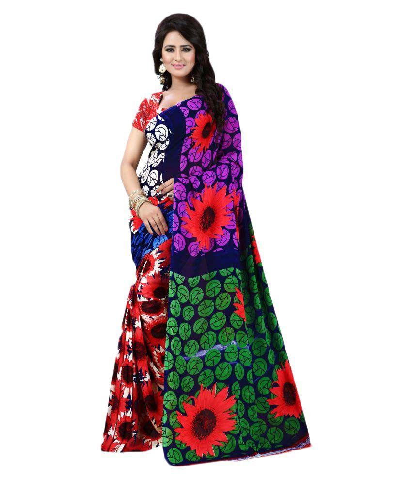 S2fashion Multicoloured Georgette Saree