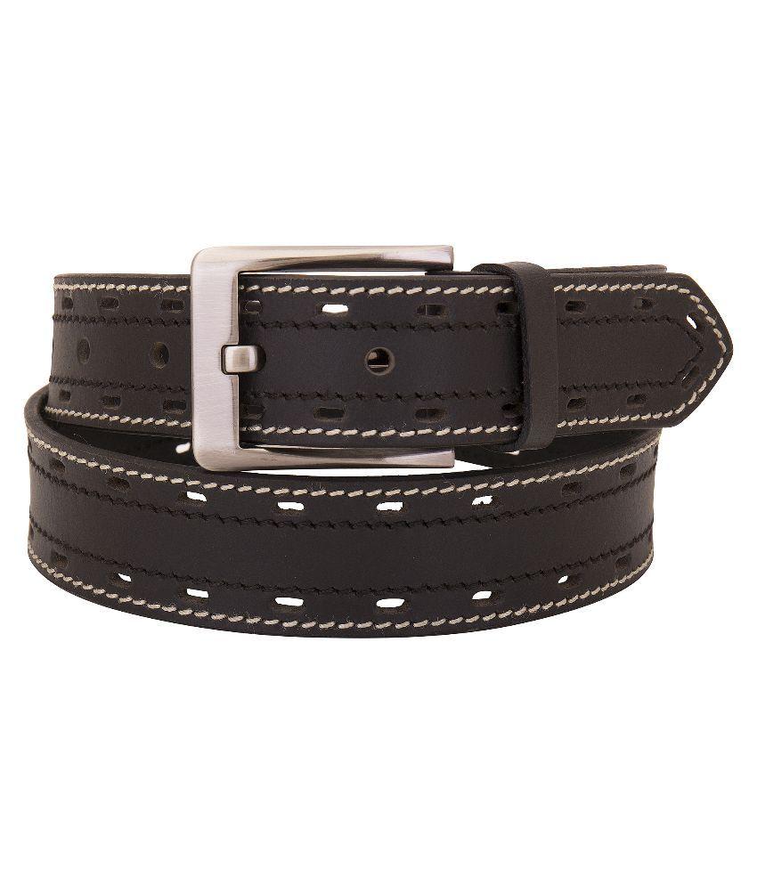 Valbone Brown Leather Belt for Men