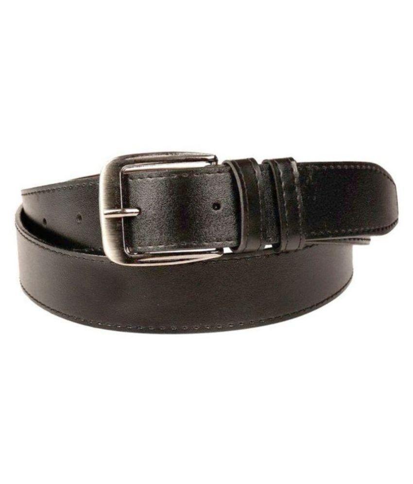 SanDisk Black Faux Leather Formal Belts