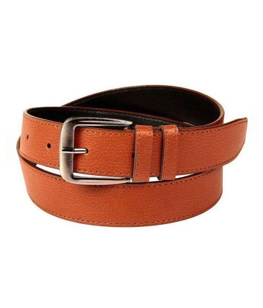 SanDisk Brown Faux Leather Formal Belts
