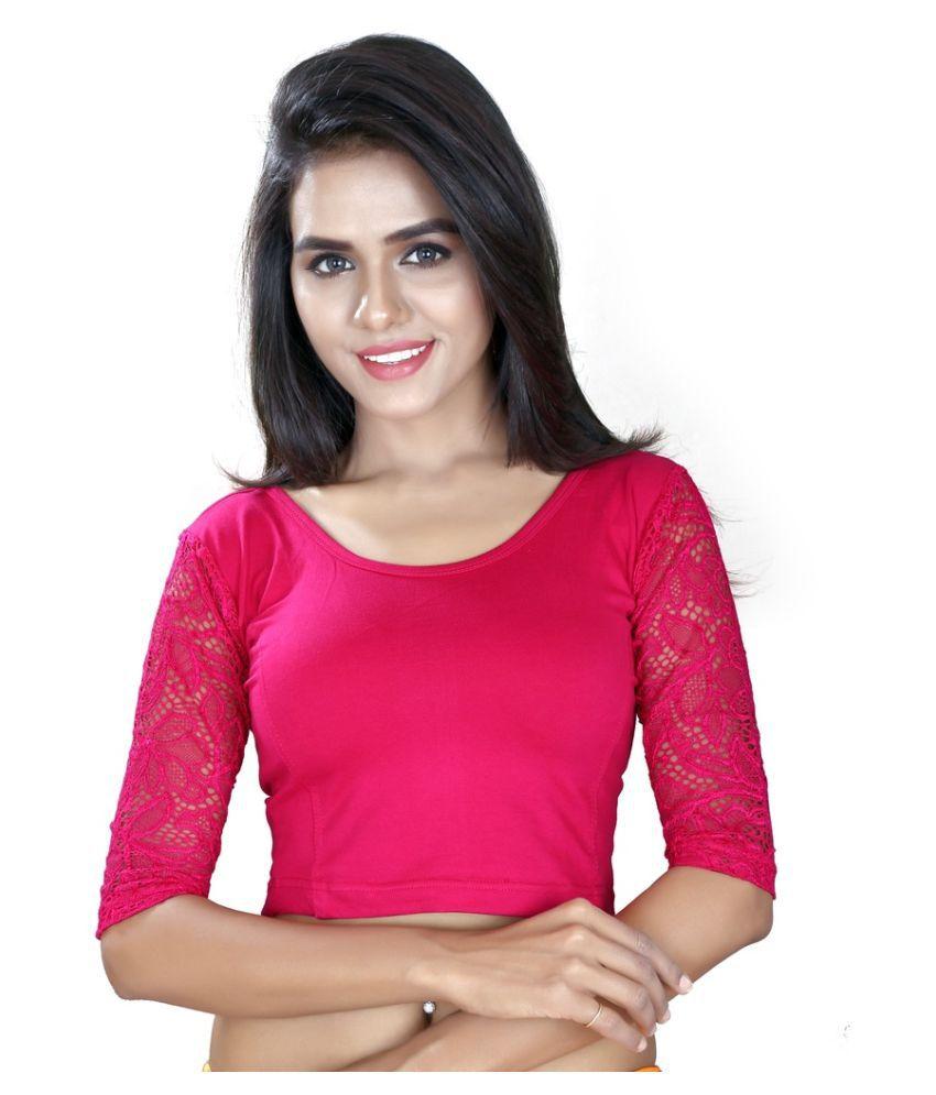 Fressia Fabrics Pink Cotton Blouses