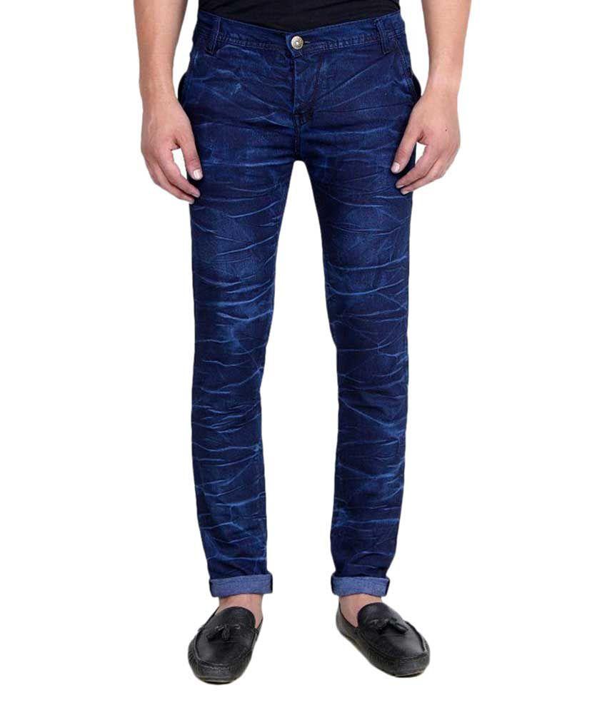 Indo Trendz Blue Slim Faded