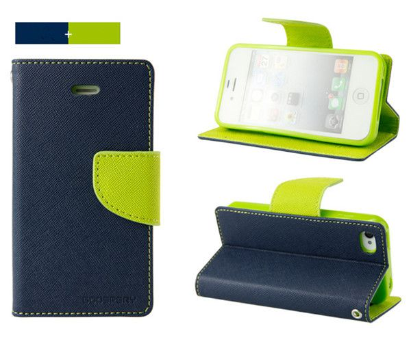 Moto E (2nd Gen) 4G Flip Cover by GOOSPERY - Blue