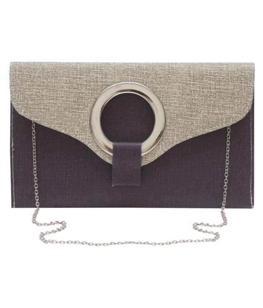Stylesaga Purple Faux Leather Sling Bag