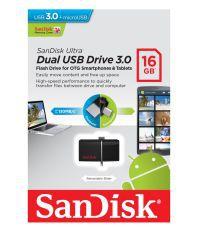 SanDisk Ultra Dual Drive Ultra 128GB USB 3.0 Utility Pendrive Black