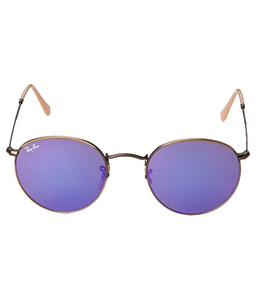 737b2795125 Ray-Ban Purple Round Sunglasses (RB3447 167 1M 50) - Buy Ray-Ban ...