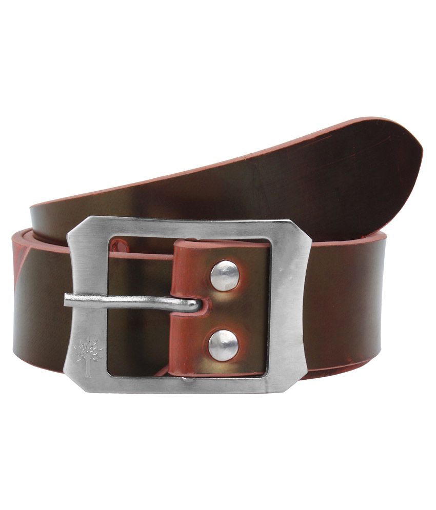 Super Matteress Brown Faux Leather Belt