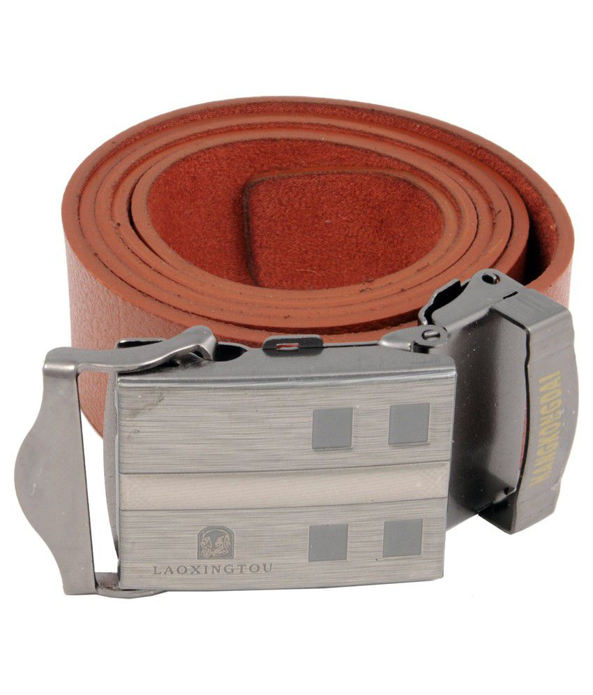 WOAP Orange Leather Casual Belts