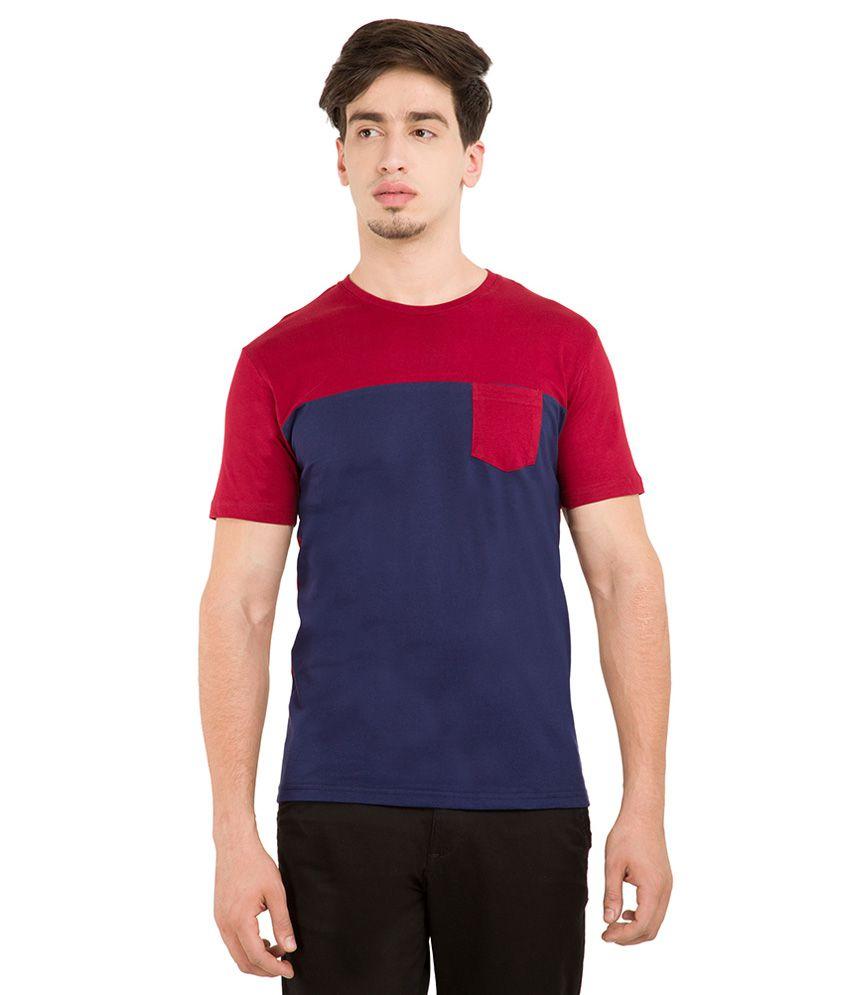 Highlander Maroon Round Neck T Shirt
