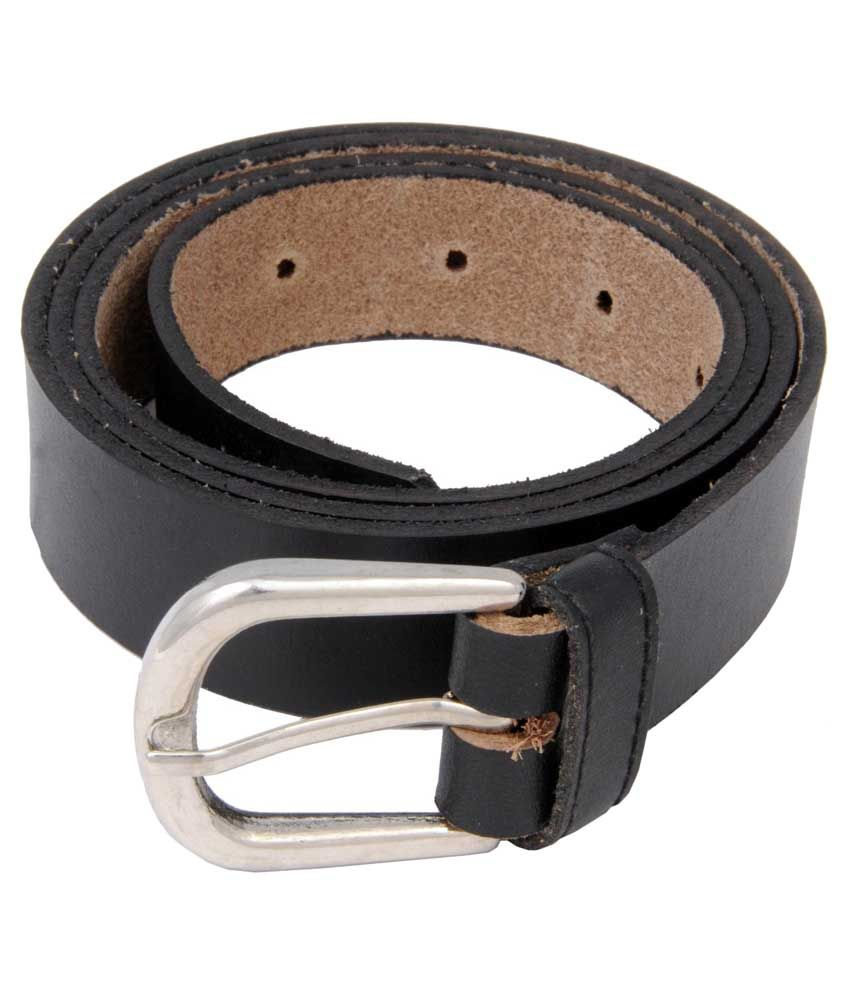 Woap Black PU Casual Belts