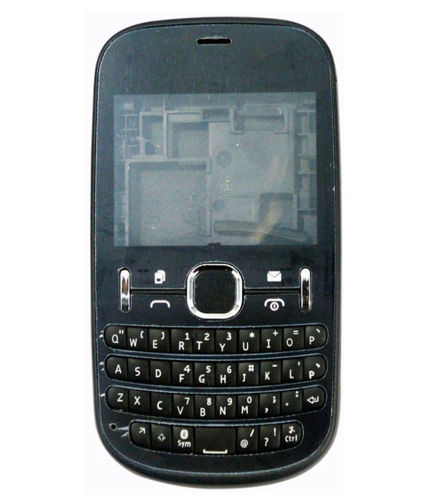 Fabcase Replacement Housing Body for Nokia Asha 200-Black ...