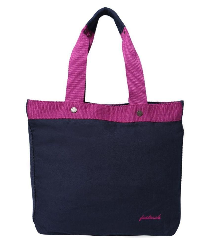Fastrack Navy Canvas Tote Bag