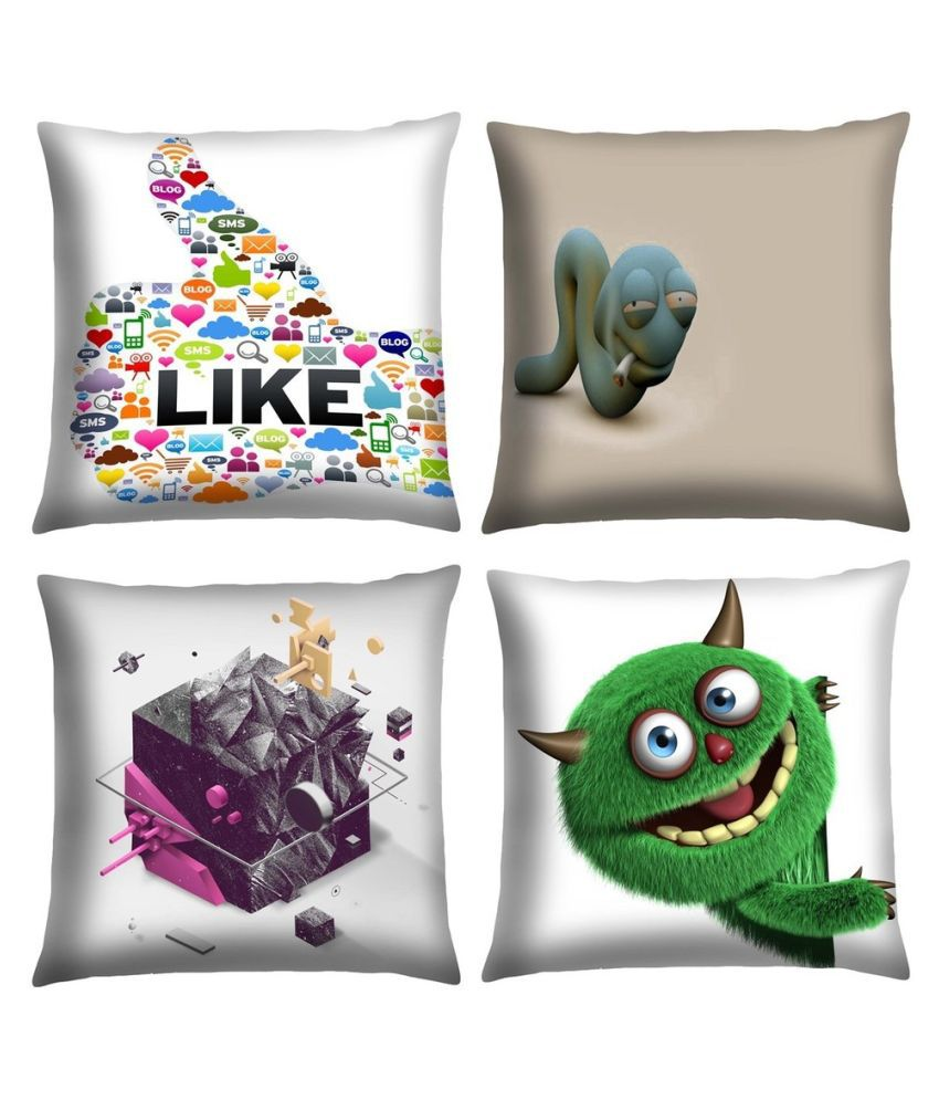 Magical Knots Set of 4 Satin Cushion Covers