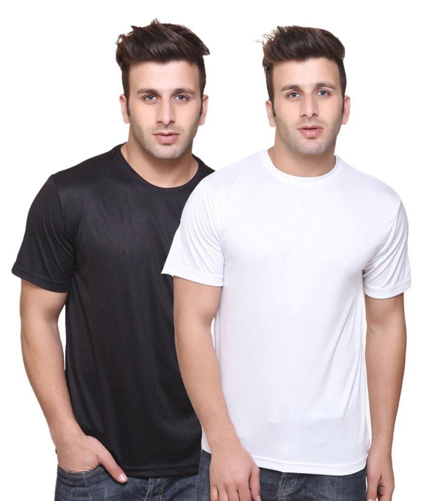 SK Bags Multicolour Cotton T Shirt - Pack of 2