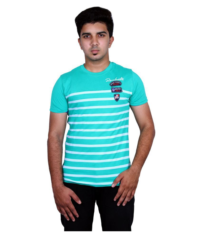 Moonwalker Turquoise Round T-Shirt