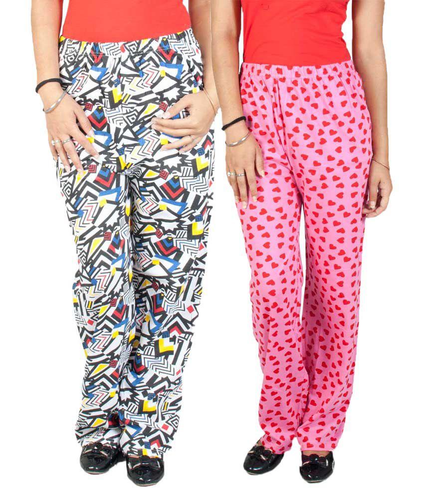 FabPoppy Multi Color Cotton Pajamas