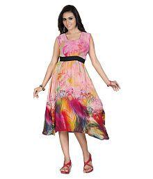 HSFS Multi Color Georgette Dresses