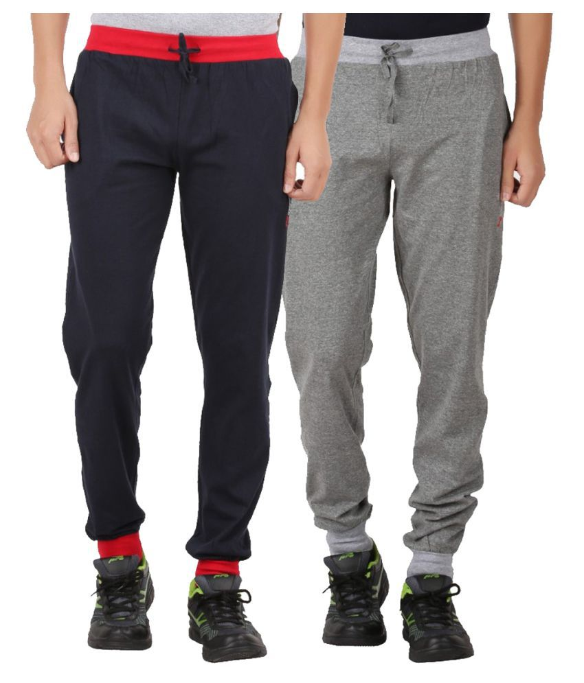 Checkersbay Multi Cotton Trackpants Pack of 2