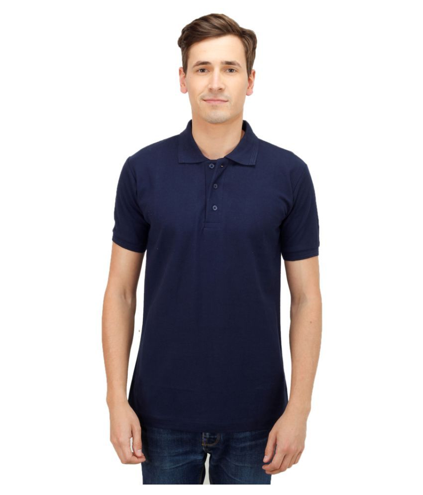 faithful navy slim fit polo t shirt buy faithful navy. Black Bedroom Furniture Sets. Home Design Ideas