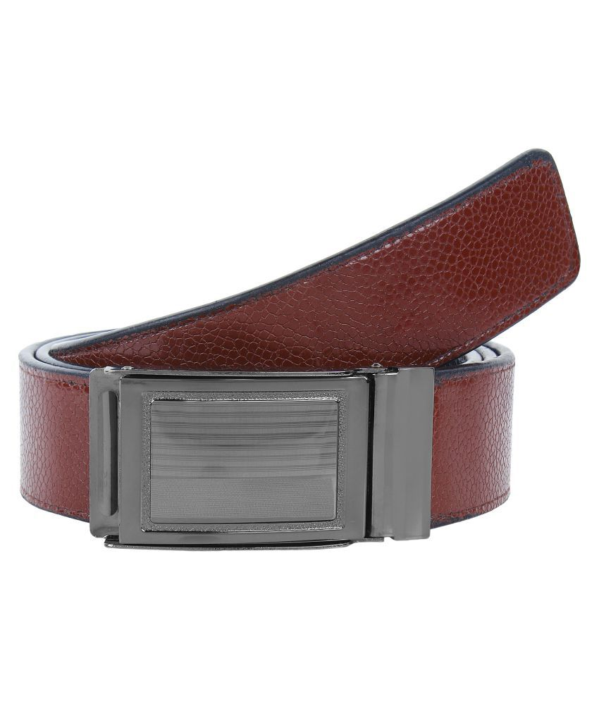 Earton Brown Faux Leather Casual Belts