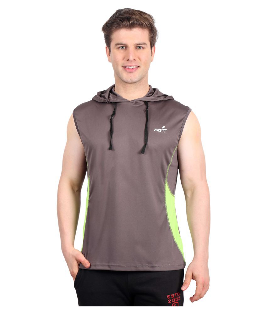 Fitz Brown Hooded T-Shirt