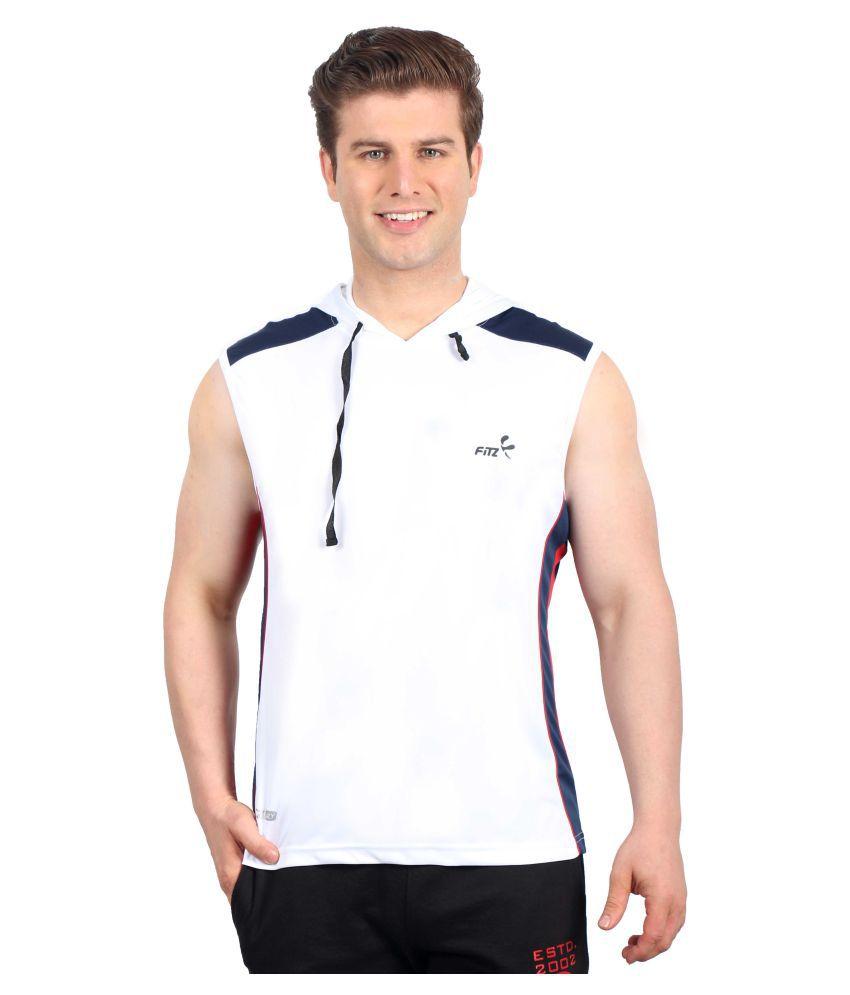 Fitz White Hooded T-Shirt