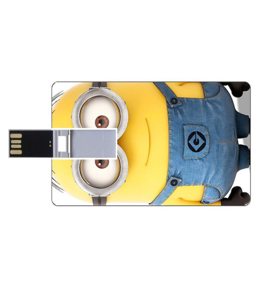 Youberry Credit Card Shape 16GB USB 2.0 Fancy Pendrive Multicolour