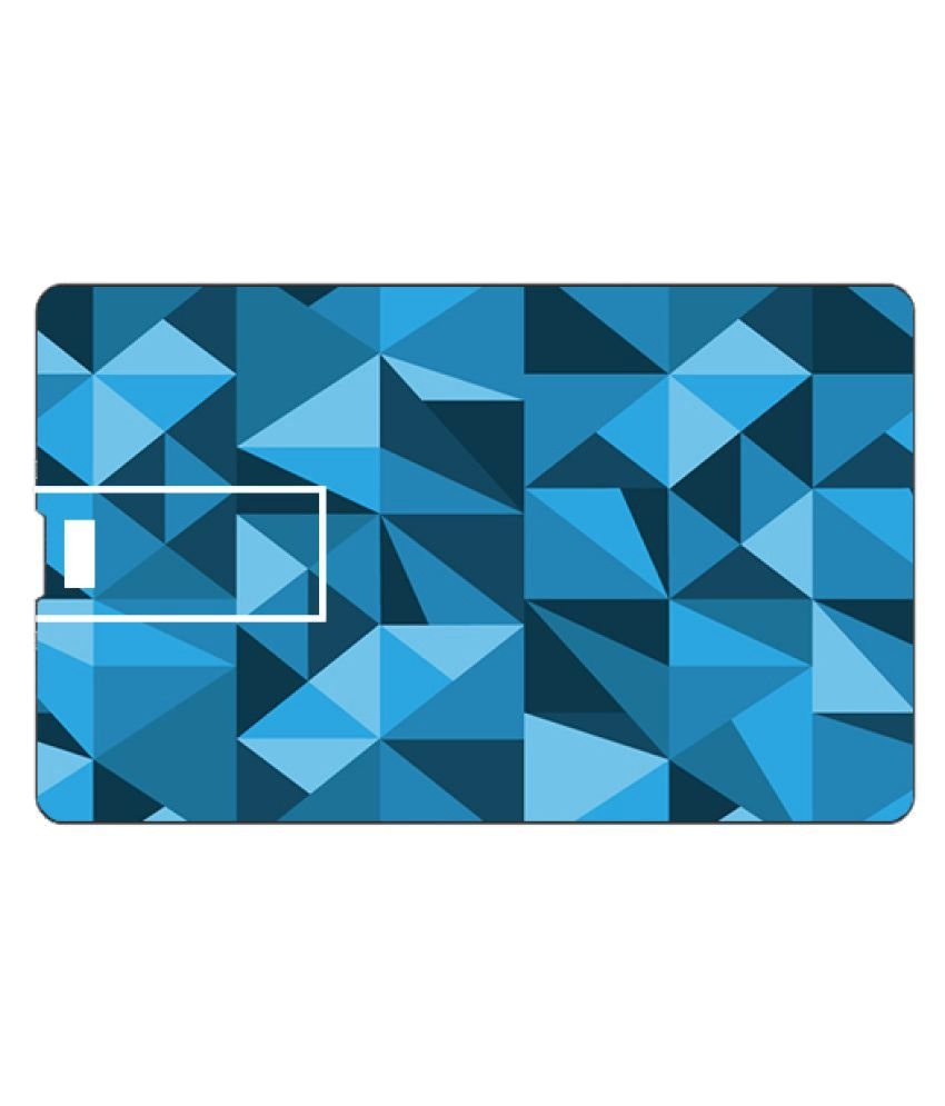 Youberry Credit Card Shape 32GB USB 2.0 Fancy Pendrive Blue