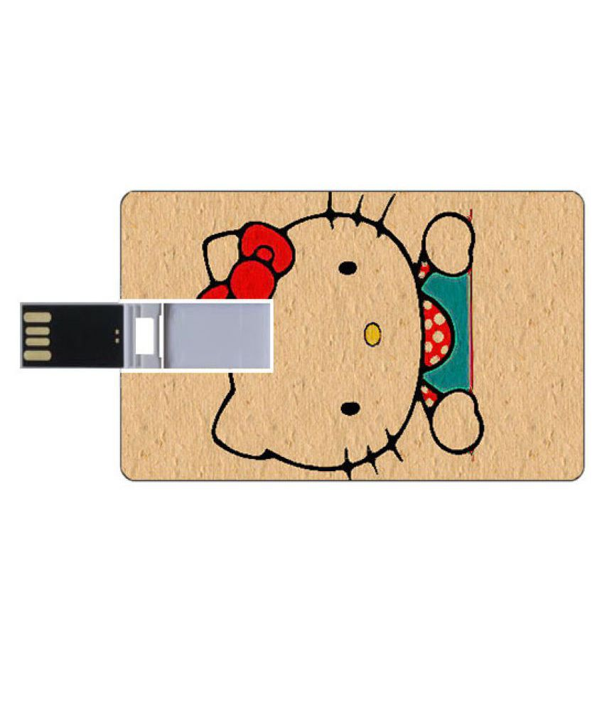Youberry Credit Card Shape Pendrive Credit Card Shape 16GB USB 2.0 Fancy Pendrive Beige