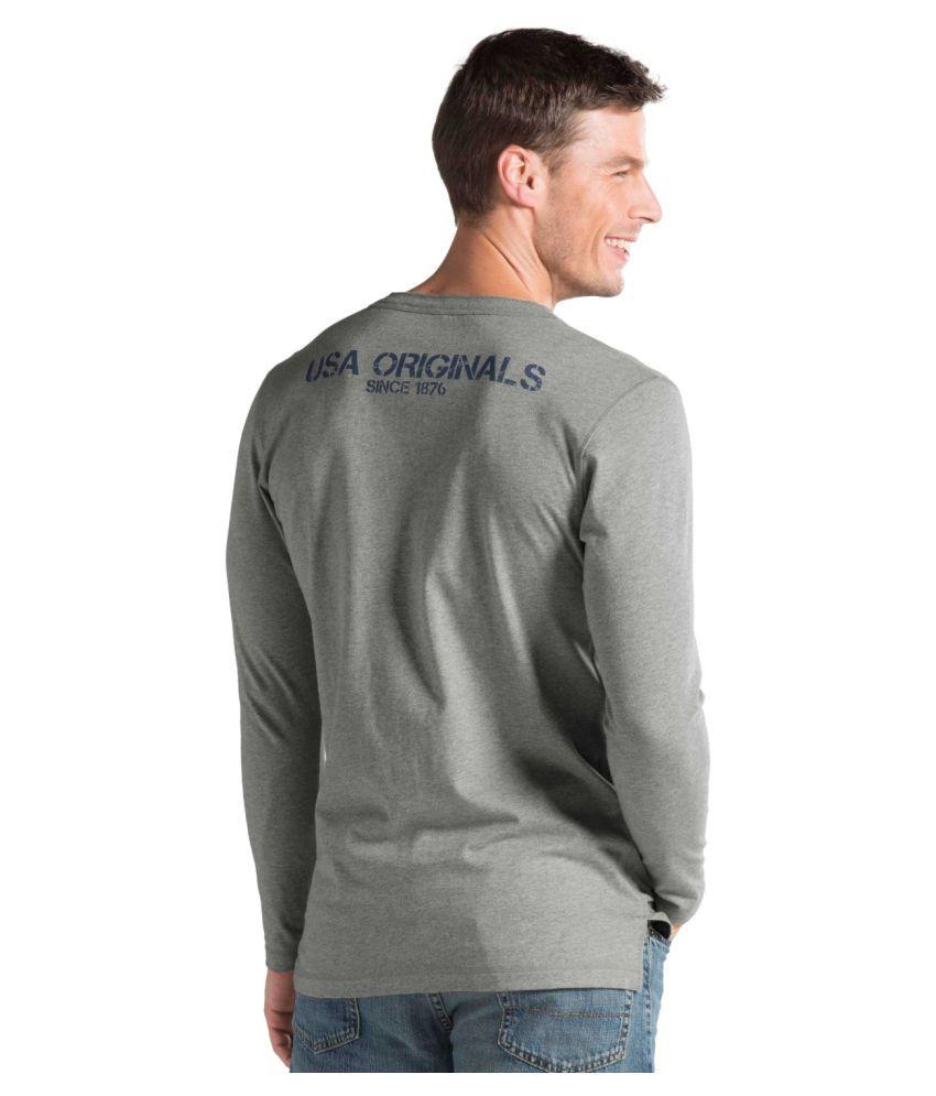 f0795599 Jockey Grey Henley T-Shirt - Buy Jockey Grey Henley T-Shirt Online ...