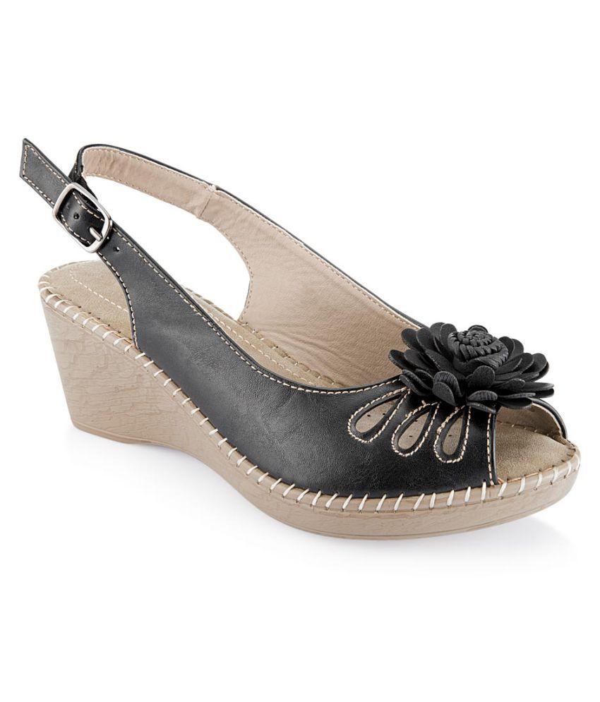 Tresmode Black Wedges Heels