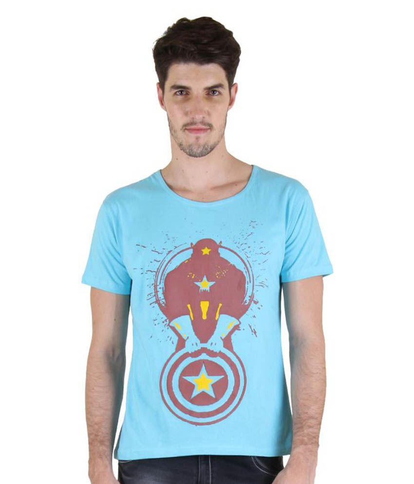 Incynk Turquoise Round T-Shirt