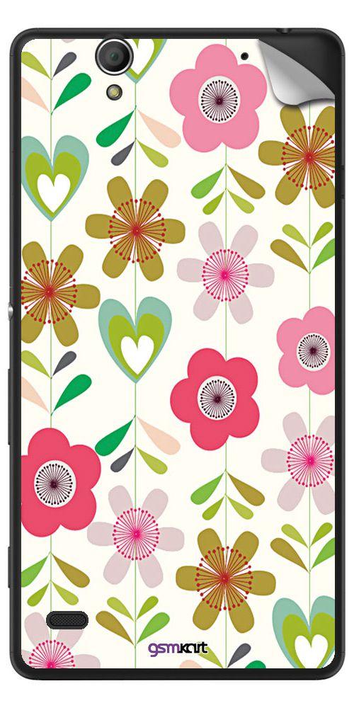 Sony Xperia C4 Designer Stickers by GsmKart - Multi