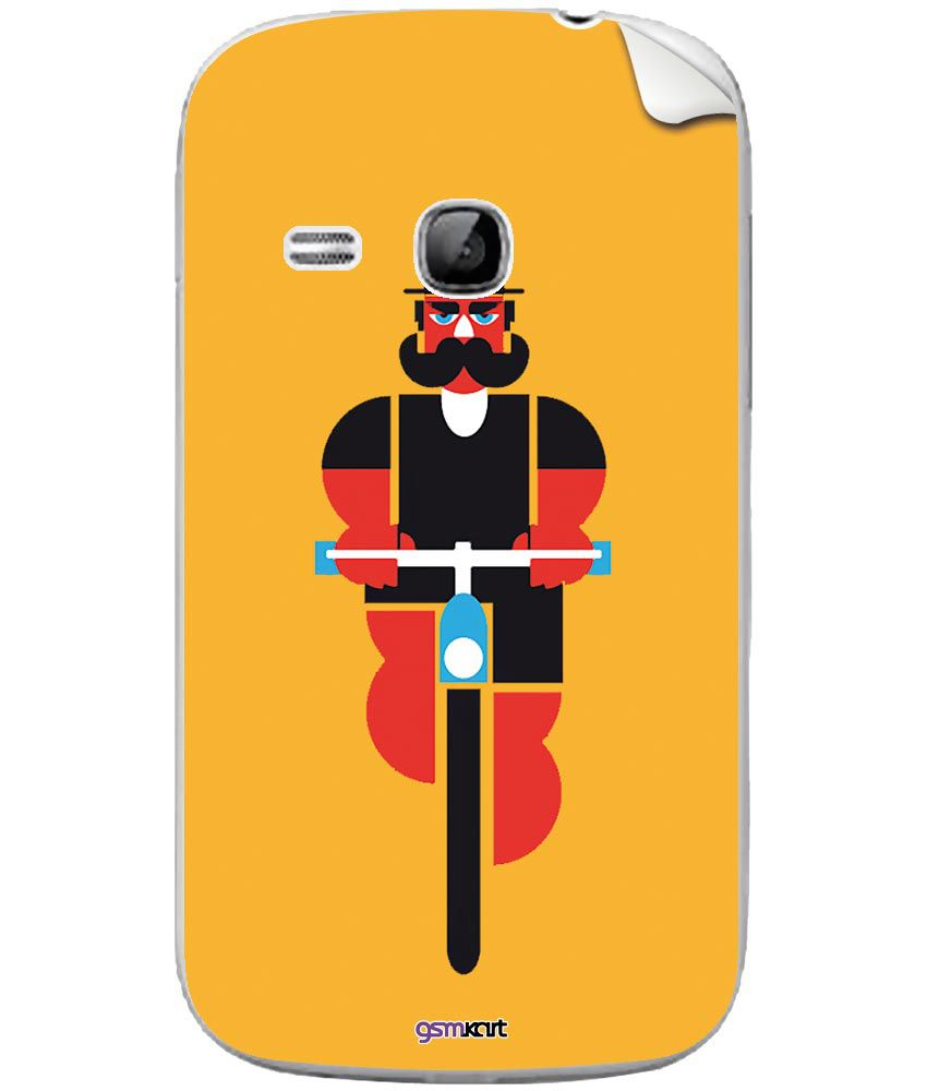 Samsung Galaxy Young S6312 Designer Stickers by GsmKart - Yellow