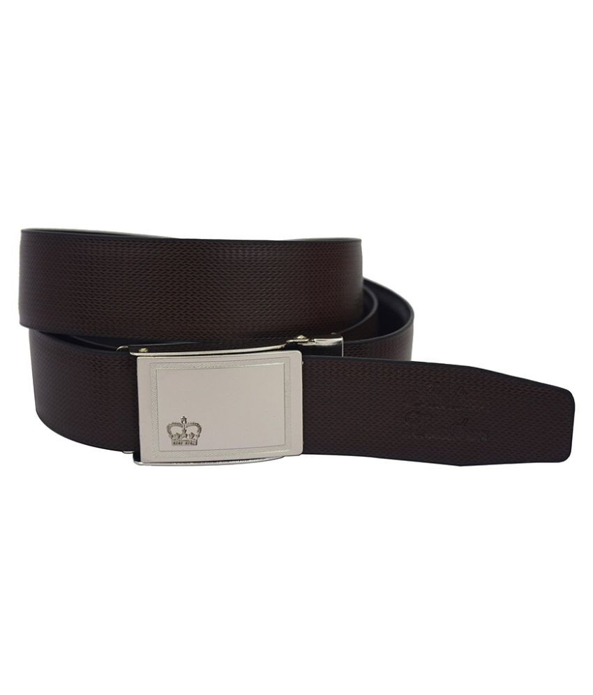 Galaxy Brown Leather Formal Belts