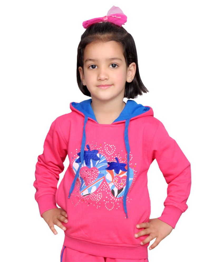 Shaun Pink Fleece Hooded Sweatshirt