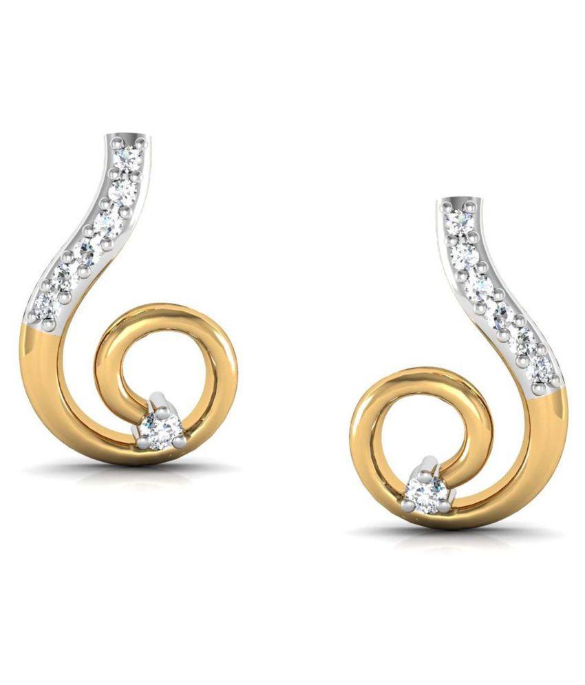 Avsar 18k BIS Hallmarked Gold Diamond Studs