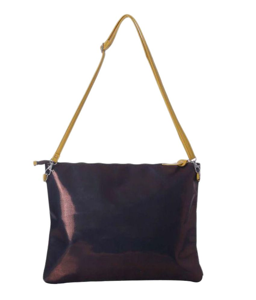 Harp Brown Polyester Office Bag