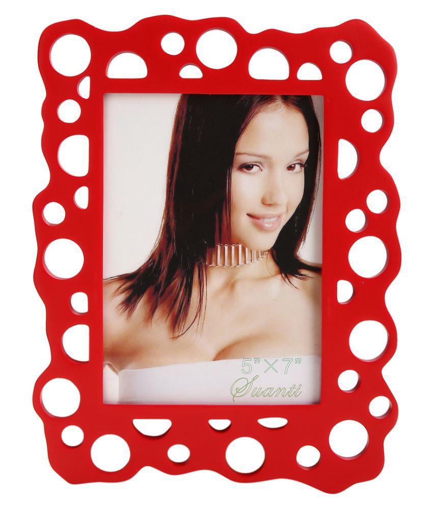 Plush Plaza Plastic TableTop Red Photo Frame Sets