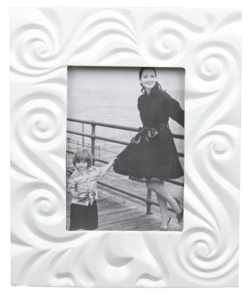 Plush Plaza Plastic TableTop White Photo Frame Sets