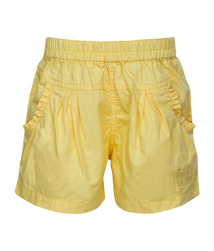Stop by Shoppers Stop Yellow Cotton Blend Short