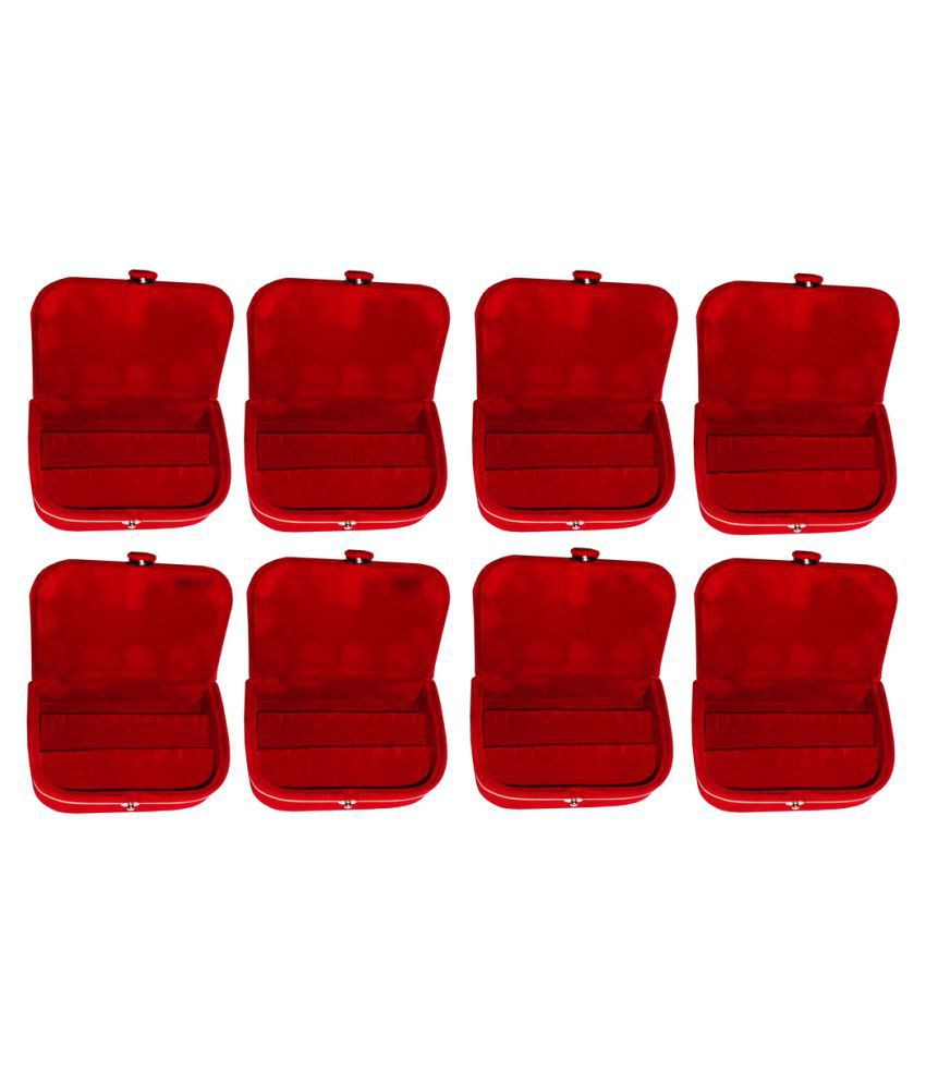 Abhinidi Red Earrings Boxes - Pack of 8