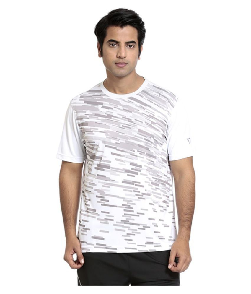 Seven White Polyester T-Shirts
