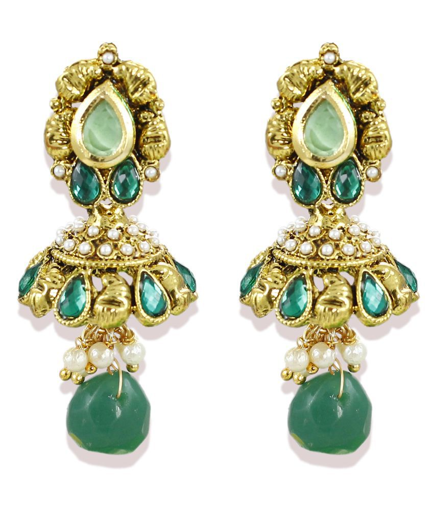 Zaveri Pearls Multicolour Jhumki Earrings\n