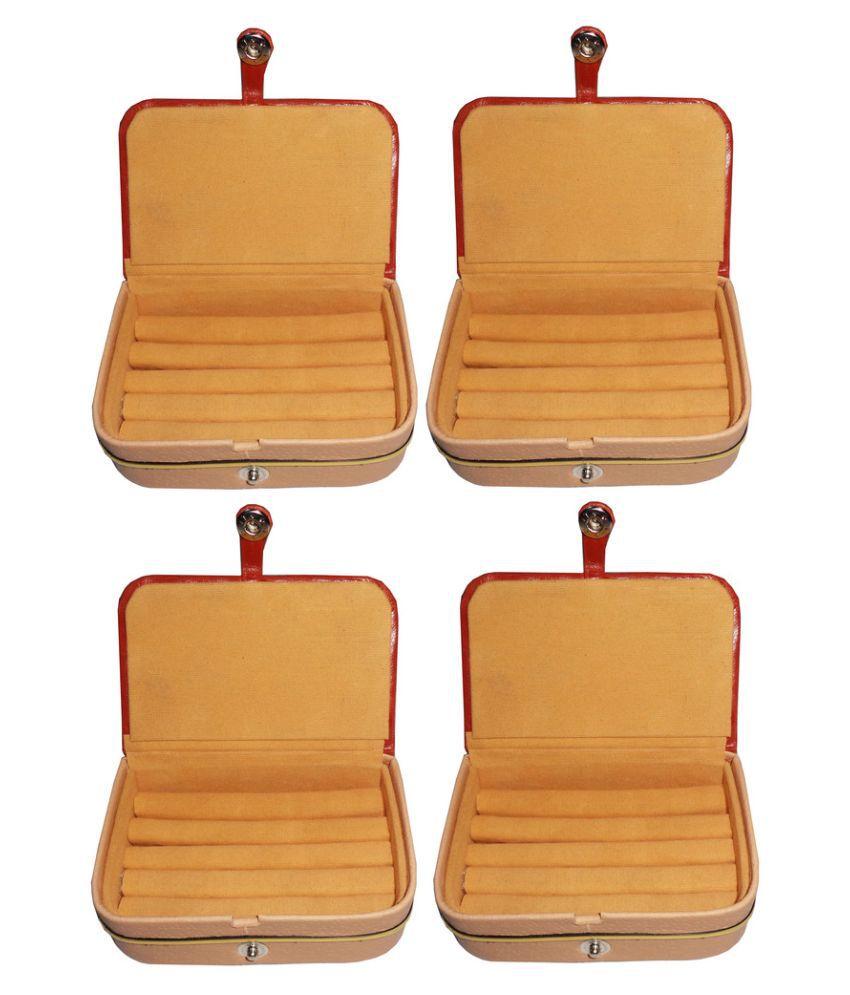 Abhinidi Orange Ring Boxes - Pack of 4