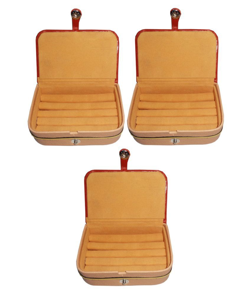 Abhinidi Orange Ring Boxes - Pack of 3