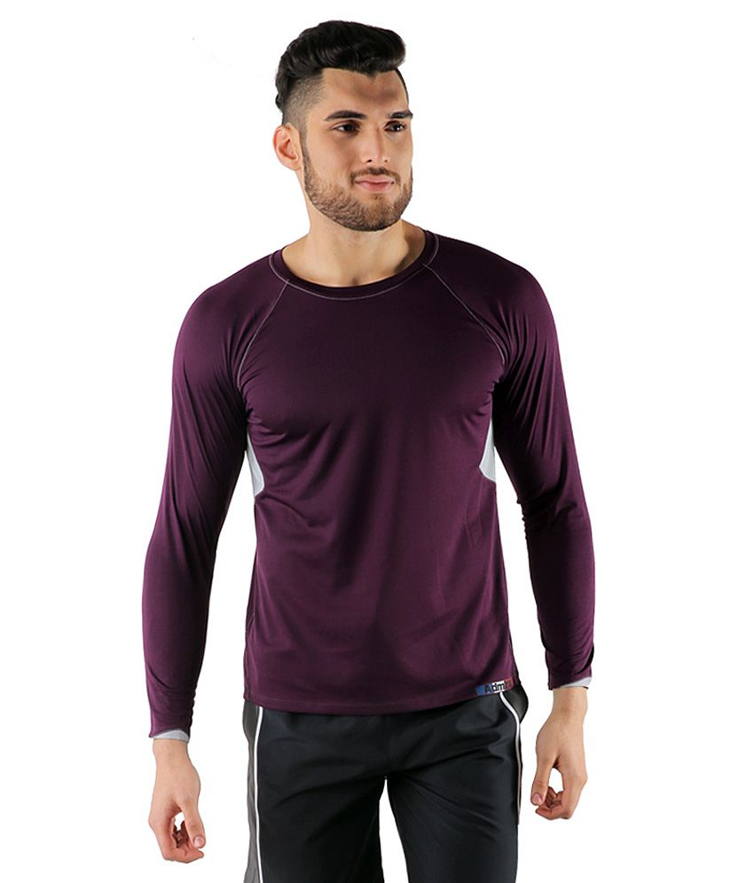 Admiral Purple Polyester T-Shirt
