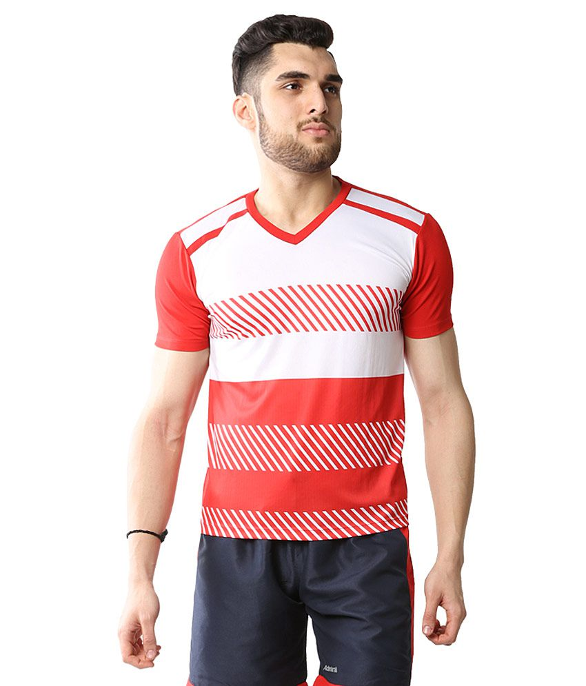 Admiral Red Polyester T-Shirt