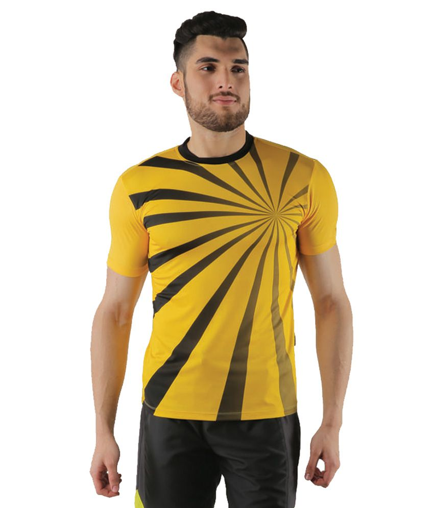 Admiral Yellow Polyester T-Shirt